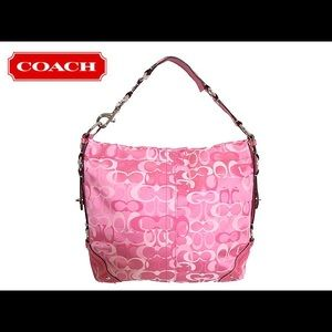 My Old Coach Leather Collection Pink
